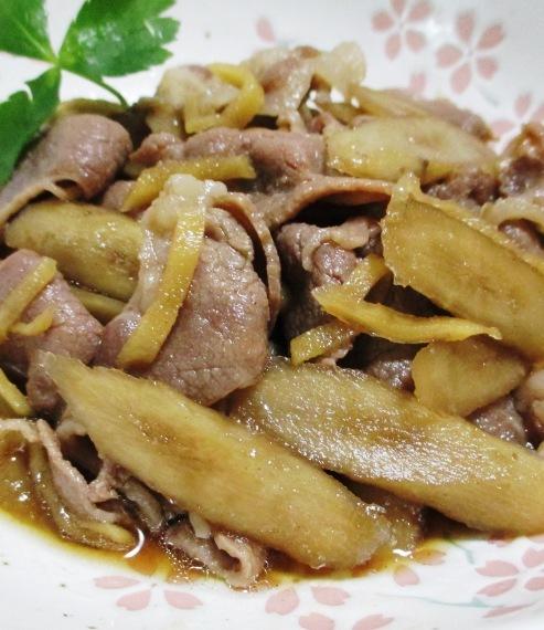 ごぼうと豚肉のしぐれ煮 拡大