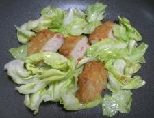 野菜天キャベツ 調理①