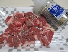 牛肉と新じゃがいものソテー 調理①