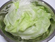 湯引きレタス 調理②