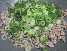大豆とひき肉の和風炒め 調理③