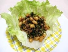 大豆とひき肉の和風炒め 調理⑥