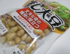 大豆とひき肉の和風炒め 材料①