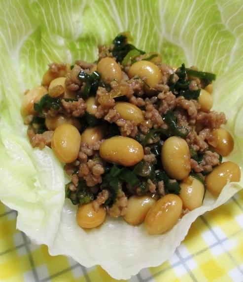 大豆とひき肉の和風炒め 大