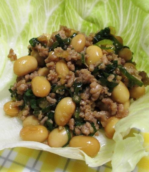 大豆とひき肉の和風炒め B