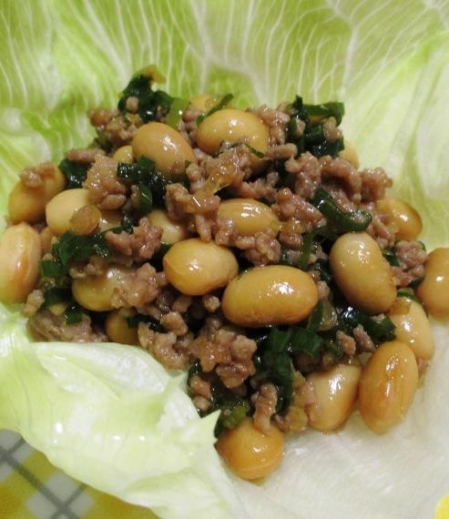 大豆とひき肉の和風炒め 拡大