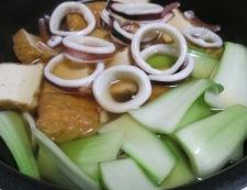 イカと厚揚げの煮物 調理④