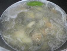 あさりとキャベツのしょうがスープ 調理③