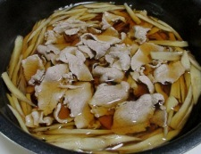 肉ごぼう豆腐 調理④
