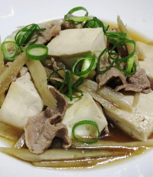 肉ごぼう豆腐 大