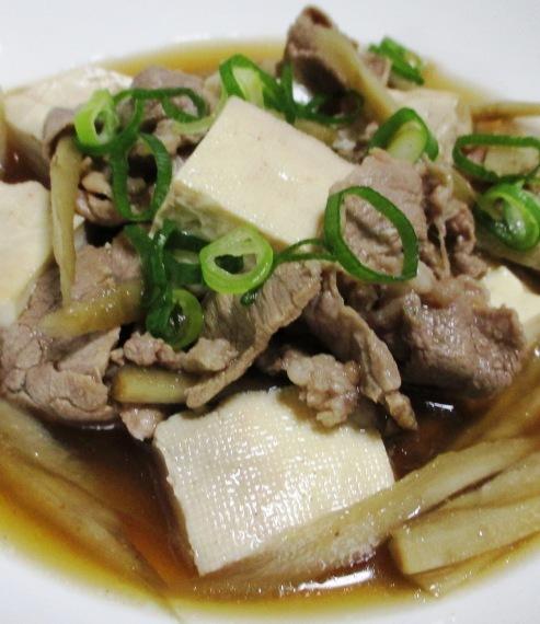 肉ごぼう豆腐 拡大
