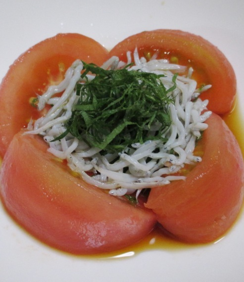 トマトのしらす青紫蘇サラダ B