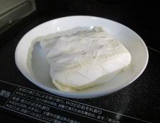 豆腐とえのき 【下準備】①