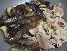 ナスと豚こまの煮物 調理④