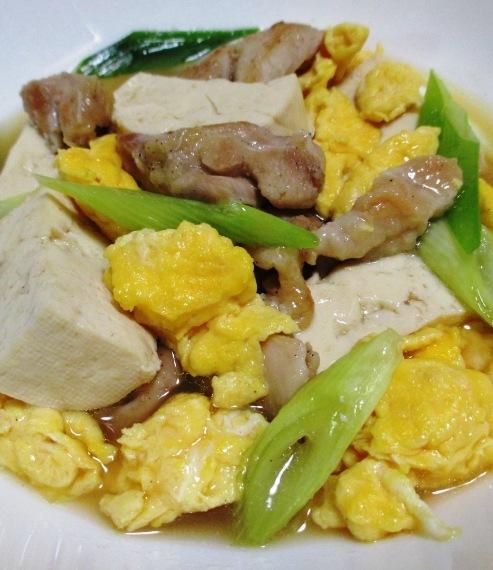鶏もも肉と豆腐炒り卵の煮物 拡大