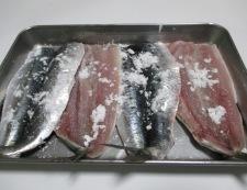 いわしの照り焼き 調理②