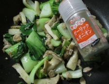 ツナと青梗菜の炒め物 調理④