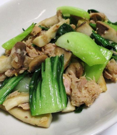 ツナと青梗菜の炒め物 B