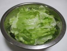 鮭レタスチャーハン 調理②