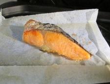 鮭レタスチャーハン 調理①