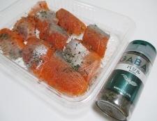 バジルサーモンフライ 調理③