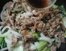 青梗菜と豚こまのピリ辛炒め 調理⑤