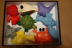 マジックテープで貼るおもちゃ0522生き物たち