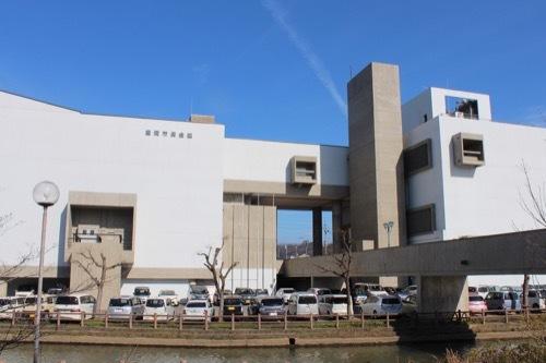 0246:豊岡市民会館 西側より