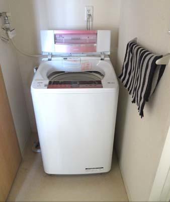 洗濯機乾燥中2