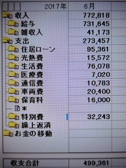 2017/6 kakeibo