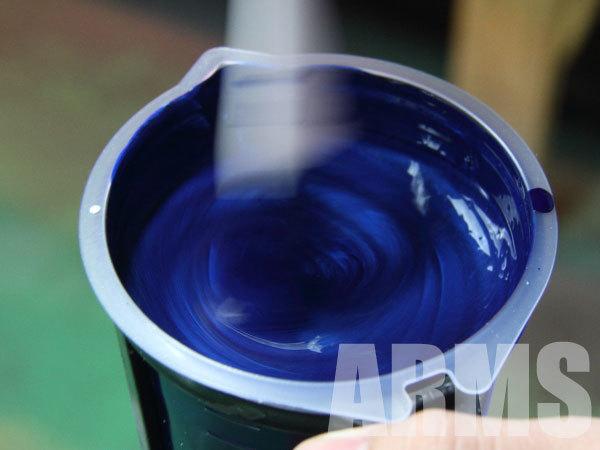ホイールの塗装 塗料の調合