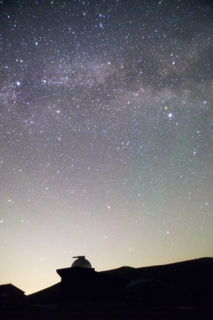 浄土平天文台と天の川