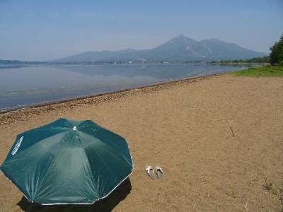 猪苗代湖での砂浴デトックス2017