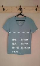 10 無印 オーガニックコットンVネックTシャツ