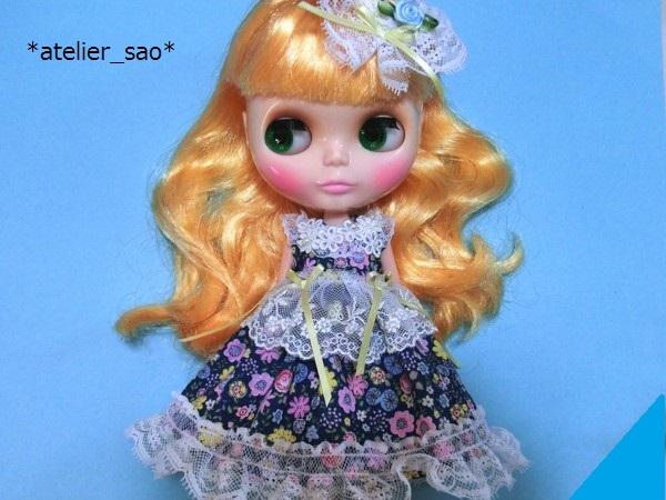 花柄の青ドレス◆ネオブライス1