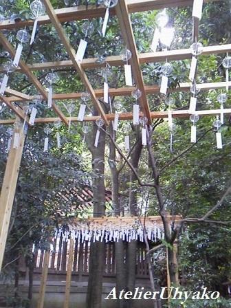 170629氷川神社風鈴白3