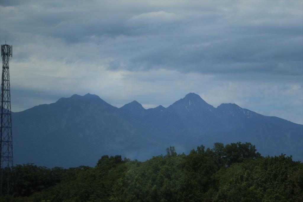 八ヶ岳が見えてきた