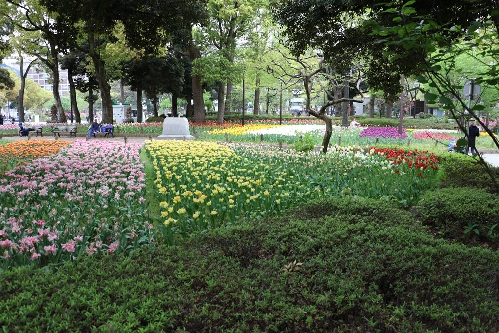 横浜公園の『全国緑化よこはまフェア』会場が見えてきた