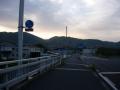 170503玉水橋で木津川を渡る