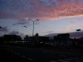 170505日の出も近い京阪三条付近