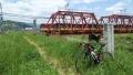 170505京阪鉄橋とCinelli