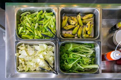 Vegetables and banana