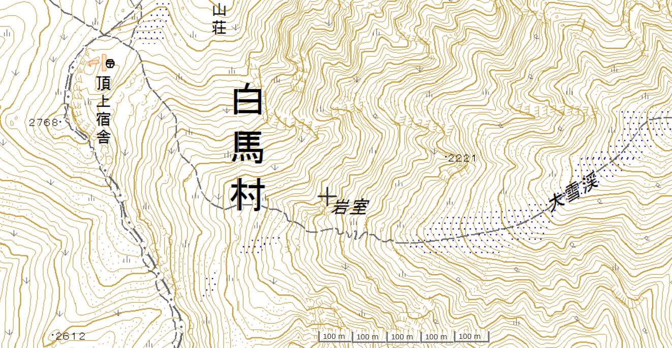 白馬大雪渓マップ