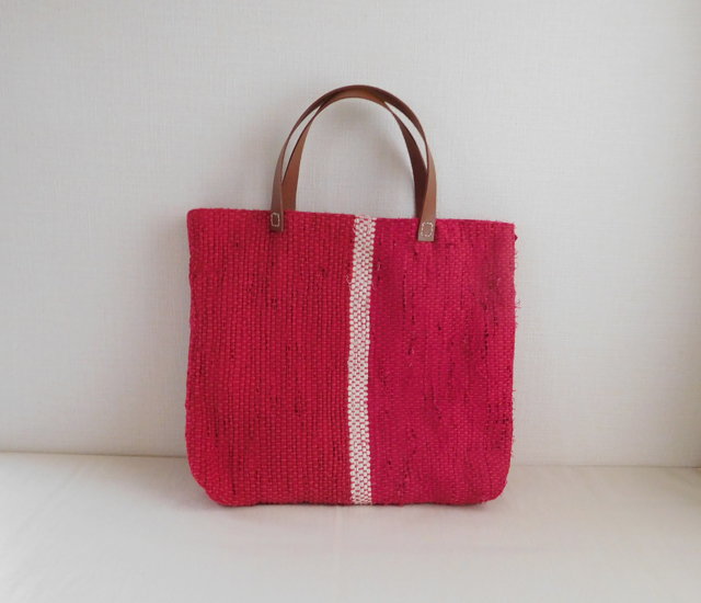 裂き織りバッグ