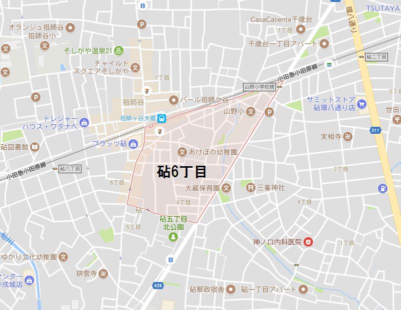 砧6丁目地図