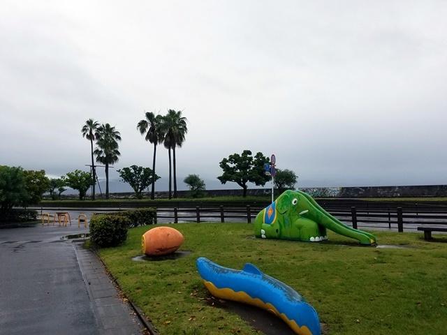 桜島見えず1
