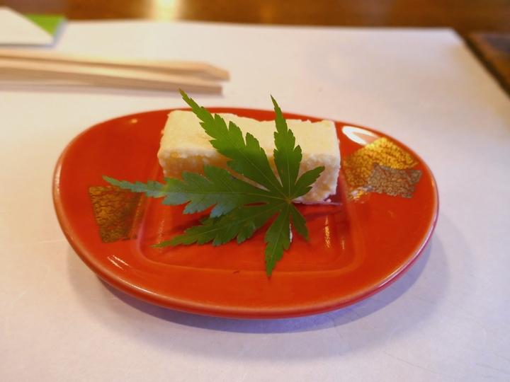 夕食 モロコシ豆腐 1 湯谷温泉 2017 6 13 P1000156