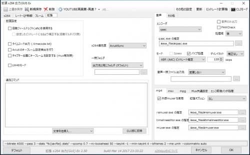 AVIUTLエンコード設定04