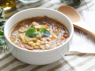レンズ豆とドライトマトのスープ