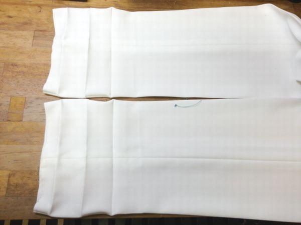 白タックパンツ細身にリメイク4